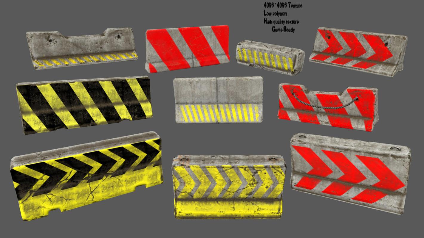 3D barrier 2 model