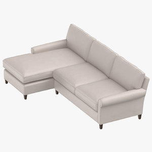 3D model contemporary sectional sofa