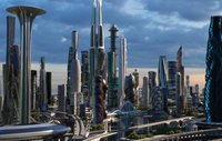 Central business district. Future city. Part 2