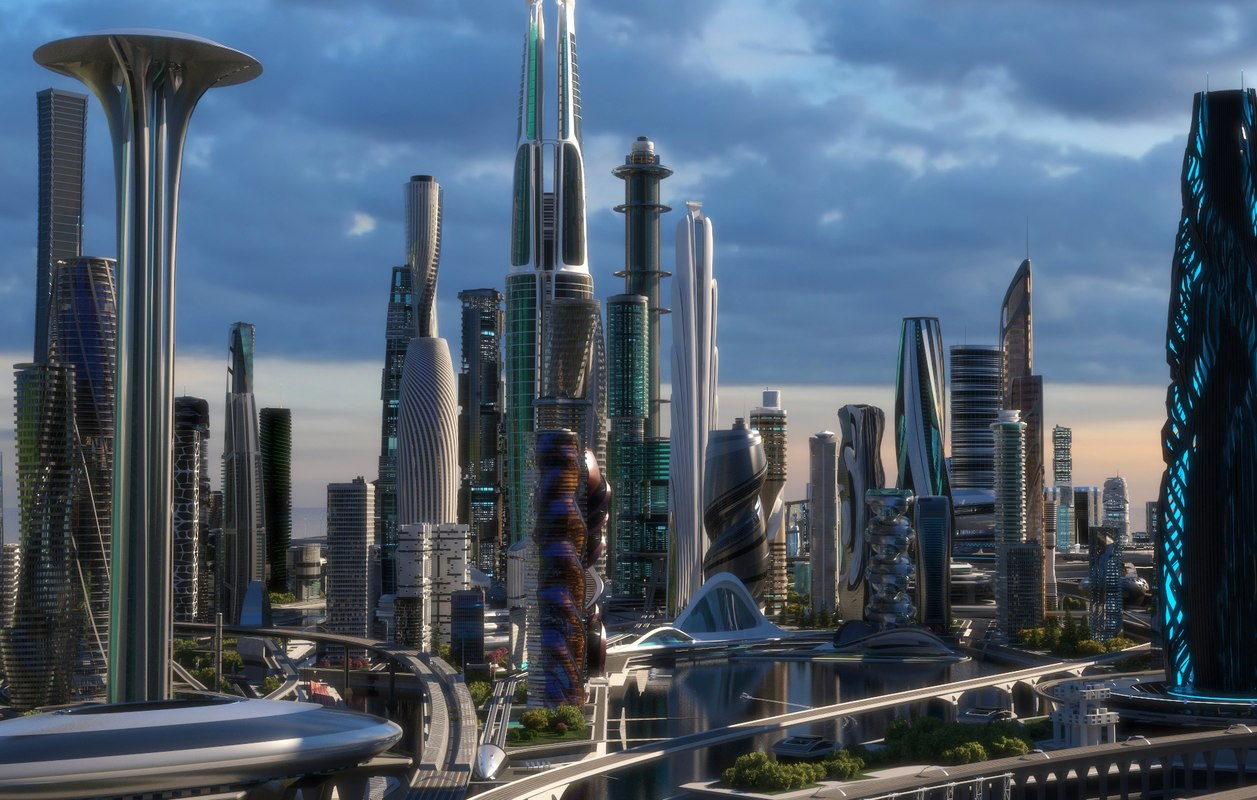 Central Business District City Architecture Model