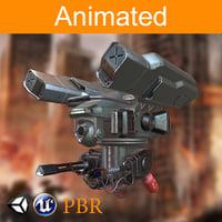 3D dron pbr
