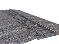 gauge rails wood 3D model