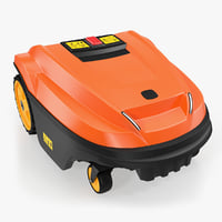 automatic robotic lawn mower 3D model