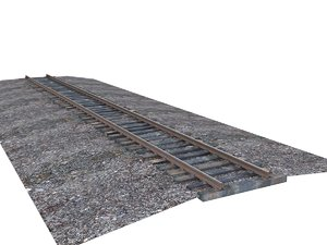 3D gauge rails wood model