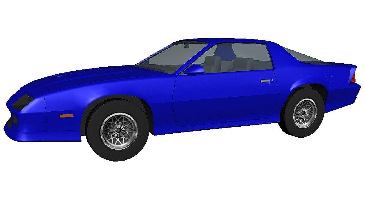 camaro blue model