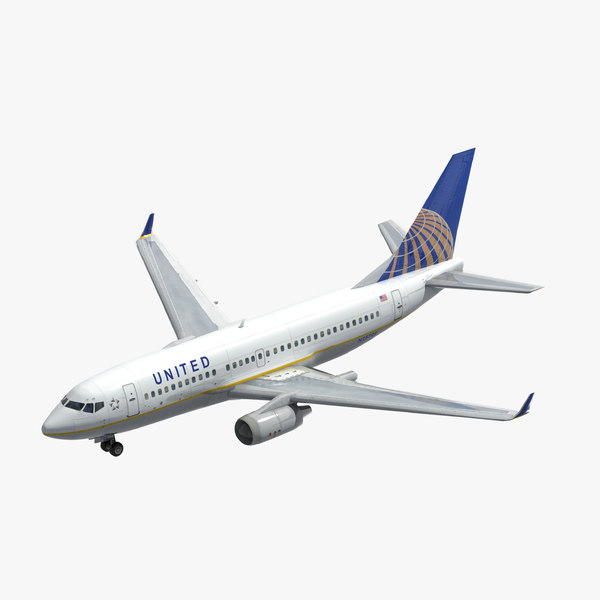 3D boeing 737-700 airliner united