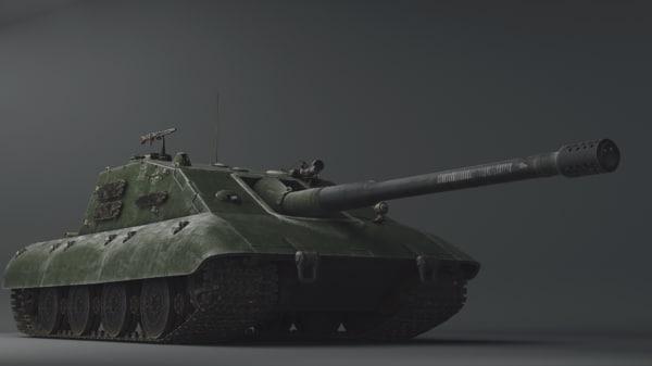 3D jagdpanzer e100 model