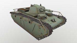 german tank grosstraktor 3D model