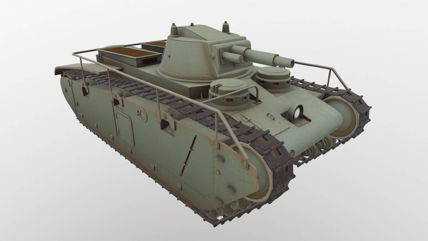 german tank grosstraktor 3D model