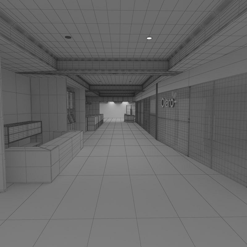 commercial premises floor 3D