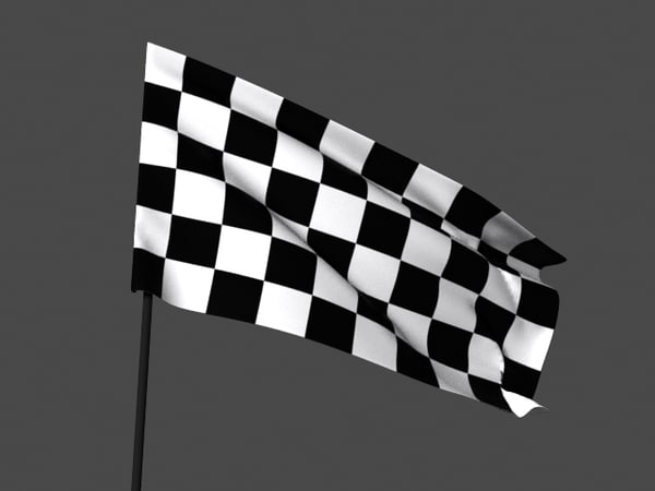 3D model 10 simulated flag animations