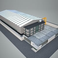 3D factory industry building
