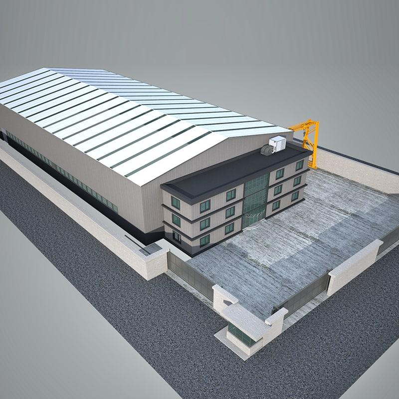 3D factory industry building