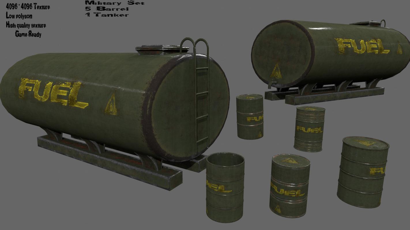 barrel tanker 3D model