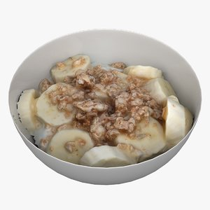 3D model scan cereal breakfast
