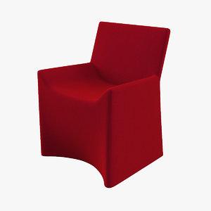 porro soft chair 3D model