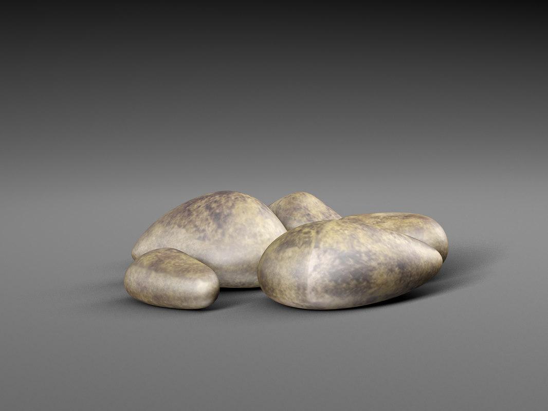 realistic stones 3D model