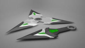 3D shuriken kunai