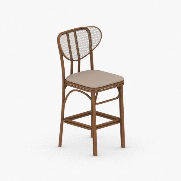 3D - chair stool model