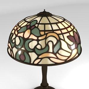 art nouveau lamp 3D model