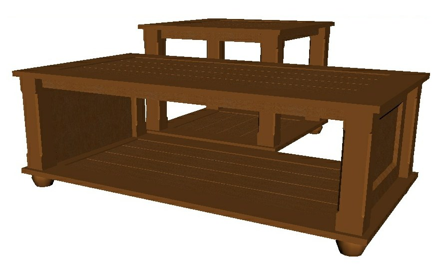 coffee table end 3D