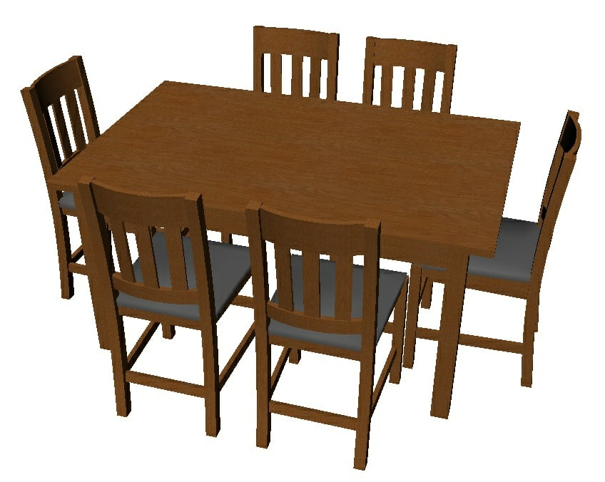 dining room table chairs model