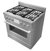 Gas stove, modern, clean