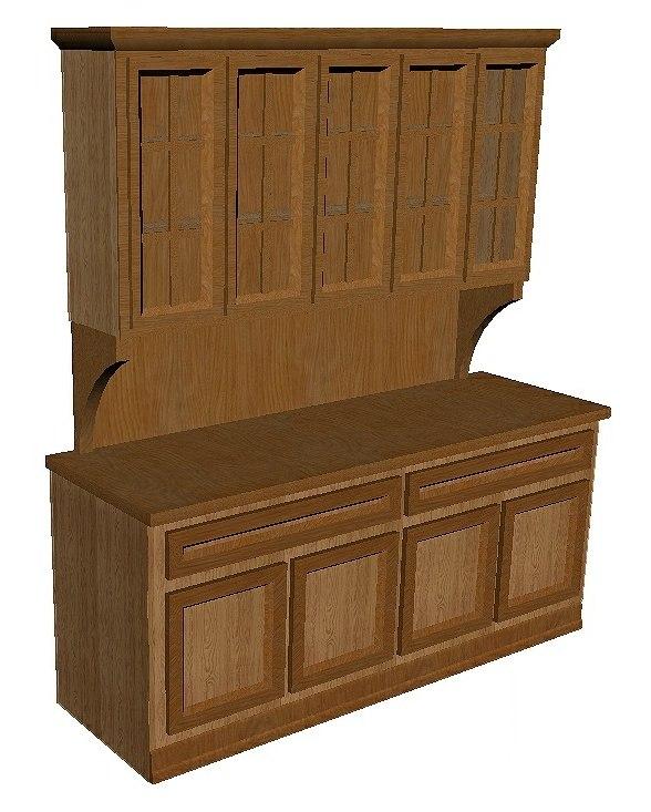 3D kitchen hutch