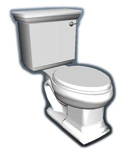 toilet polys 3D model