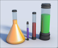 lab cups chemistry 3D model
