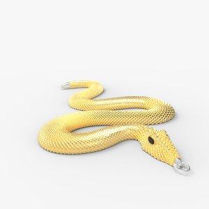 3D snake necklace model