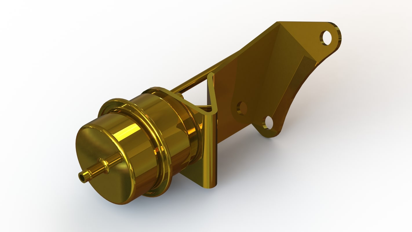 garrett gt2860r turbocharger wastegate 3D model