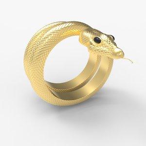 3D model men s snake ring