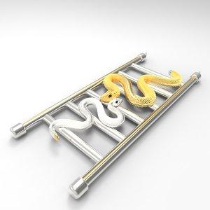 3D snake ladder