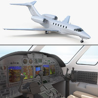 3D medium sized business jet model