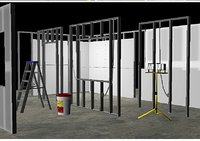 dry wall construction set 3D model
