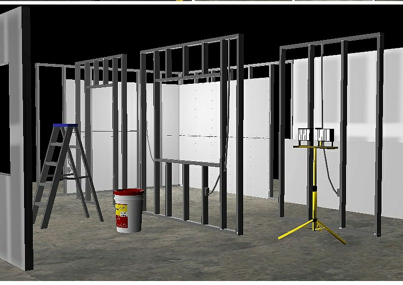 dry wall construction set 3D model