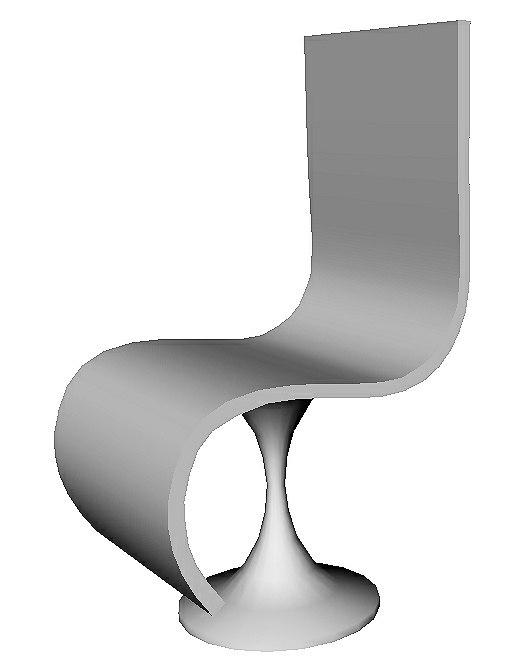 3D sci-fi chair
