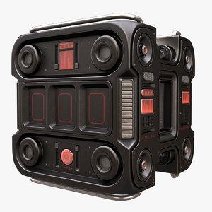 sci fi music box 3D model