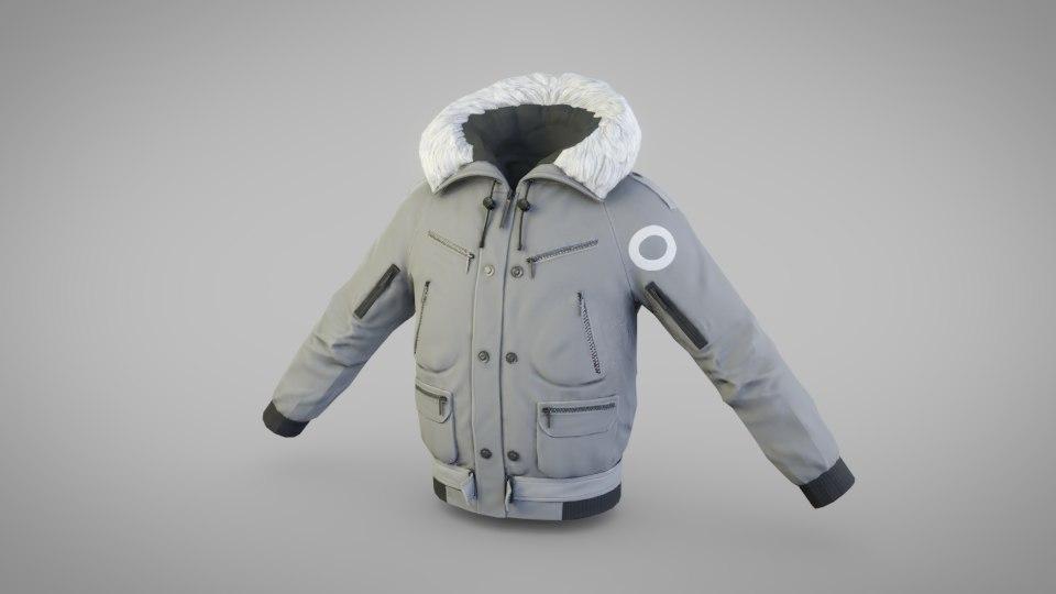 3D jacket winter model