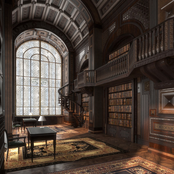3D interior castle pbr museum architecture model