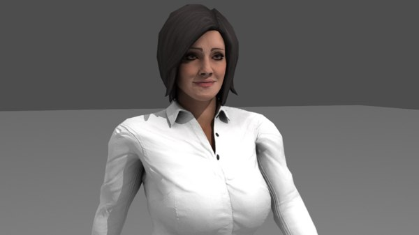 3D office girl