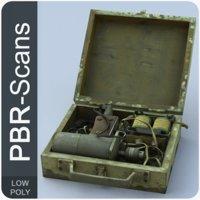 36 open suitcase 3D model