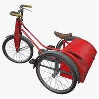 vintage tricycle 1940 3D
