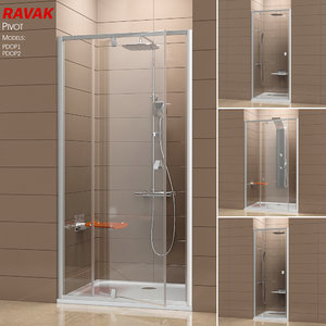 3D model shower ravak pivot doors