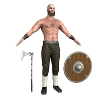 viking rigging man model