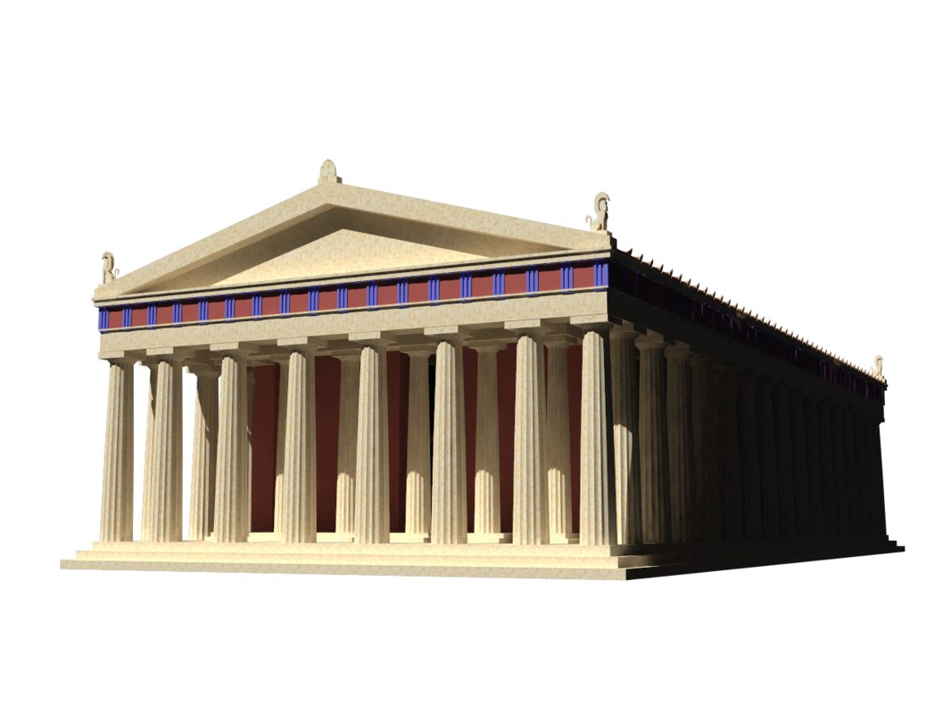 parthenon greece 3D model