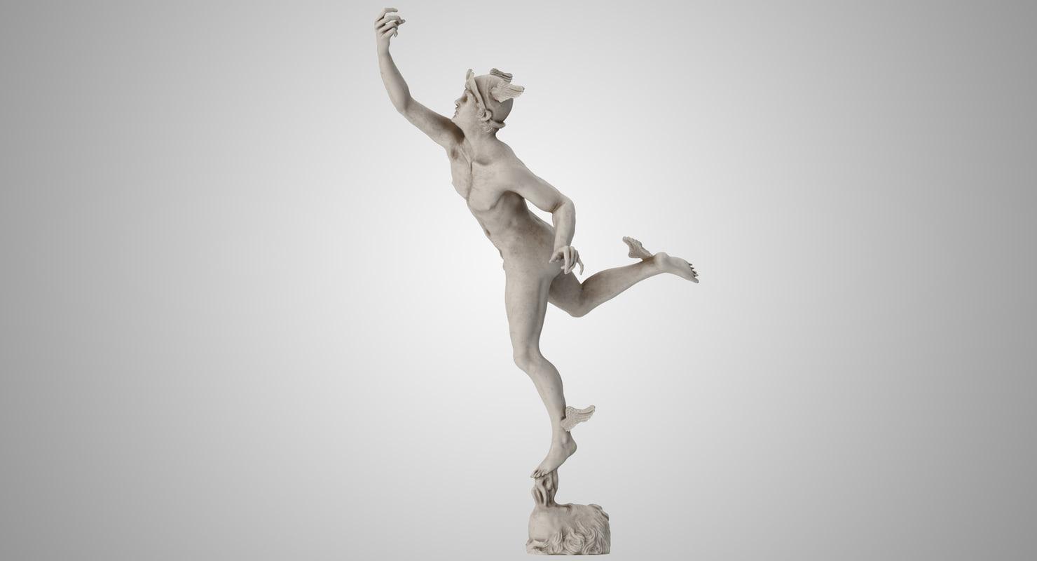3D mercury statue