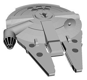 3D mil falcon model