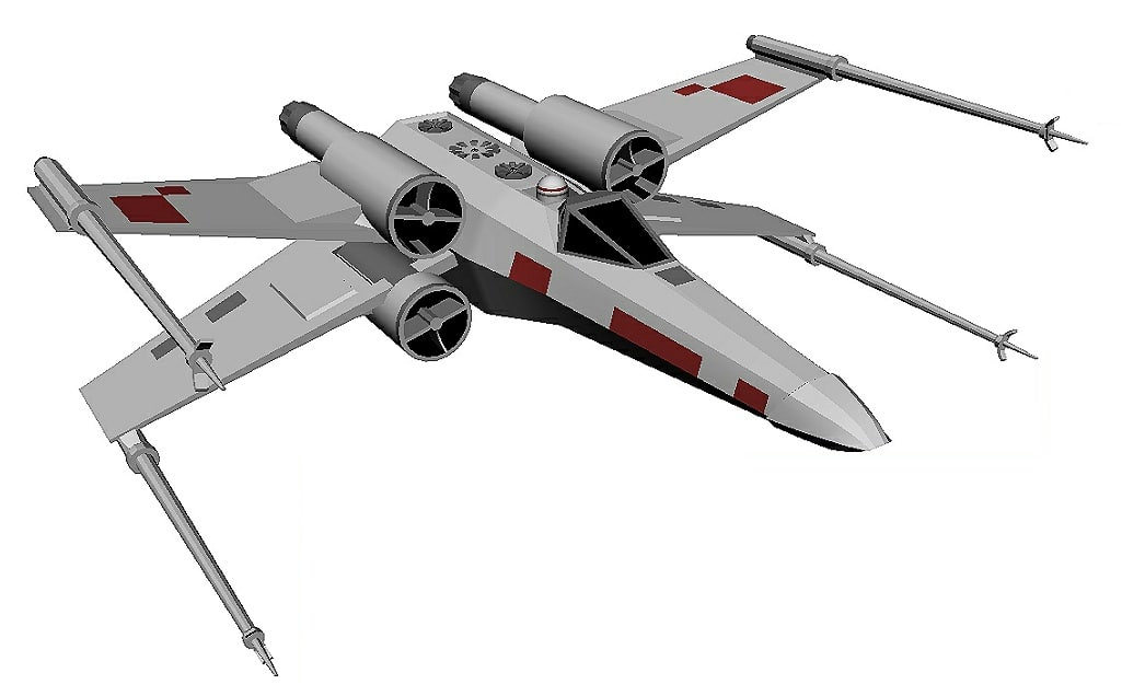 x-wing fighter space 3D model